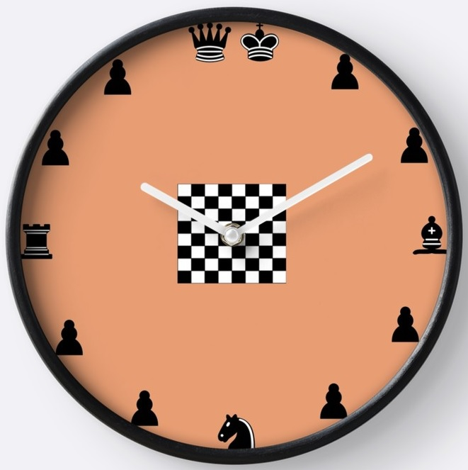 Reloj de Pared Ajedrez de Elite